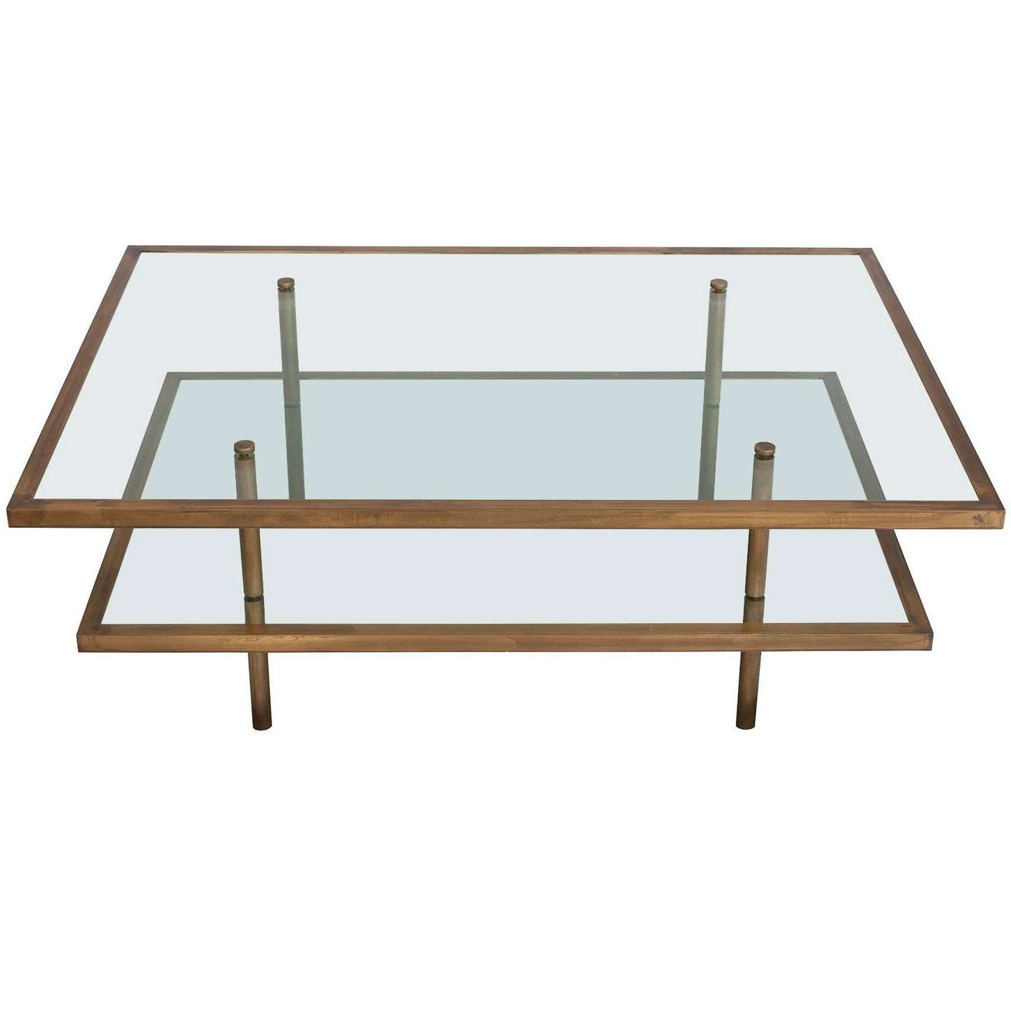 2018 Bronze And Glass Coffee Tables Within French Bronze And Glass Two Tier Coffee Table At 1Stdibs (View 1 of 20)