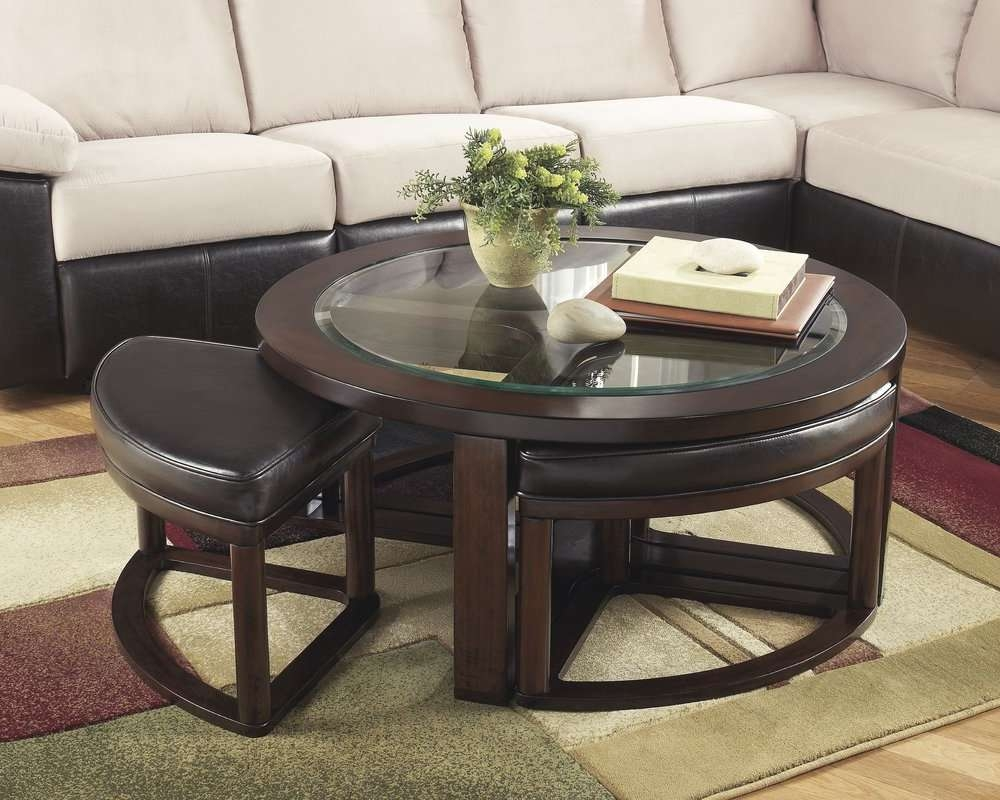 2018 Coffee Table With Stools With Darby Home Co Eastin Coffee Table With Nested Stools & Reviews (View 2 of 20)