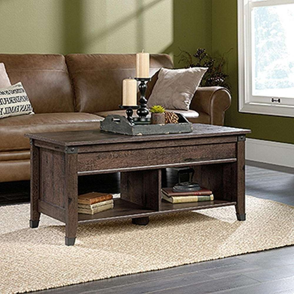 2018 Extendable Coffee Tables With Regard To Sauder Carson Forge Coffee Oak Extendable Coffee Table (View 19 of 20)
