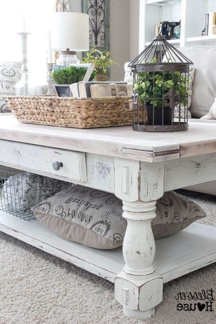 2018 French White Coffee Tables Pertaining To Coffee Tables : Breathtaking How To Chalk Paint Coffee Table Annie (View 1 of 20)