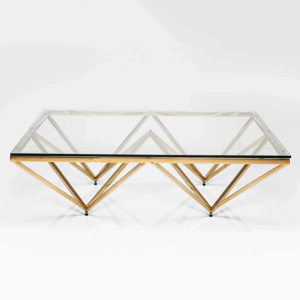 2018 Glass And Metal Coffee Tables Regarding Glass Metal Coffee Table (View 2 of 20)