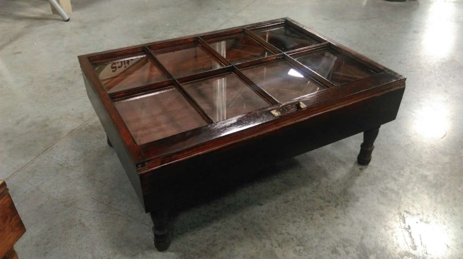 2018 Glass Top Storage Coffee Tables In Wood Shadow Box Coffee Table Mahogany Shadow Box Table (View 2 of 20)