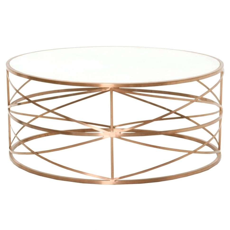 Featured Photo of Gold Round Coffee Table