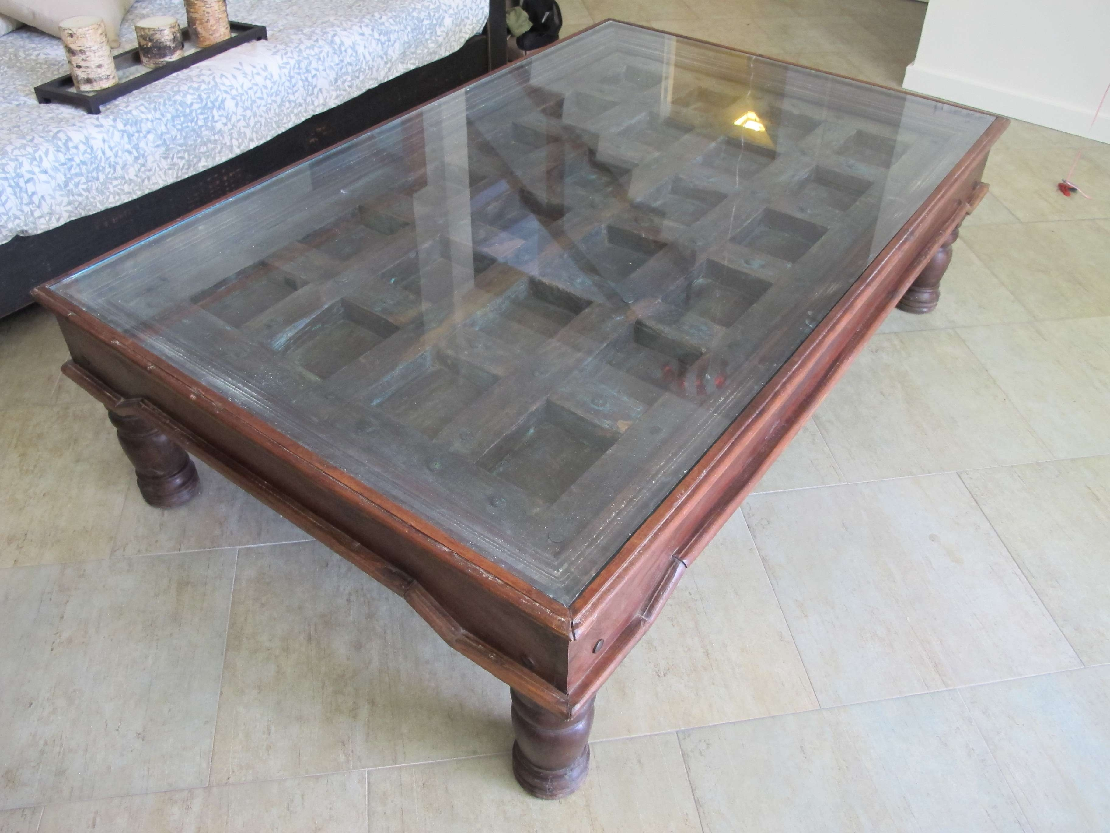 2018 Indian Coffee Tables In Coffee Table Made From And Old Indian Door (View 18 of 20)