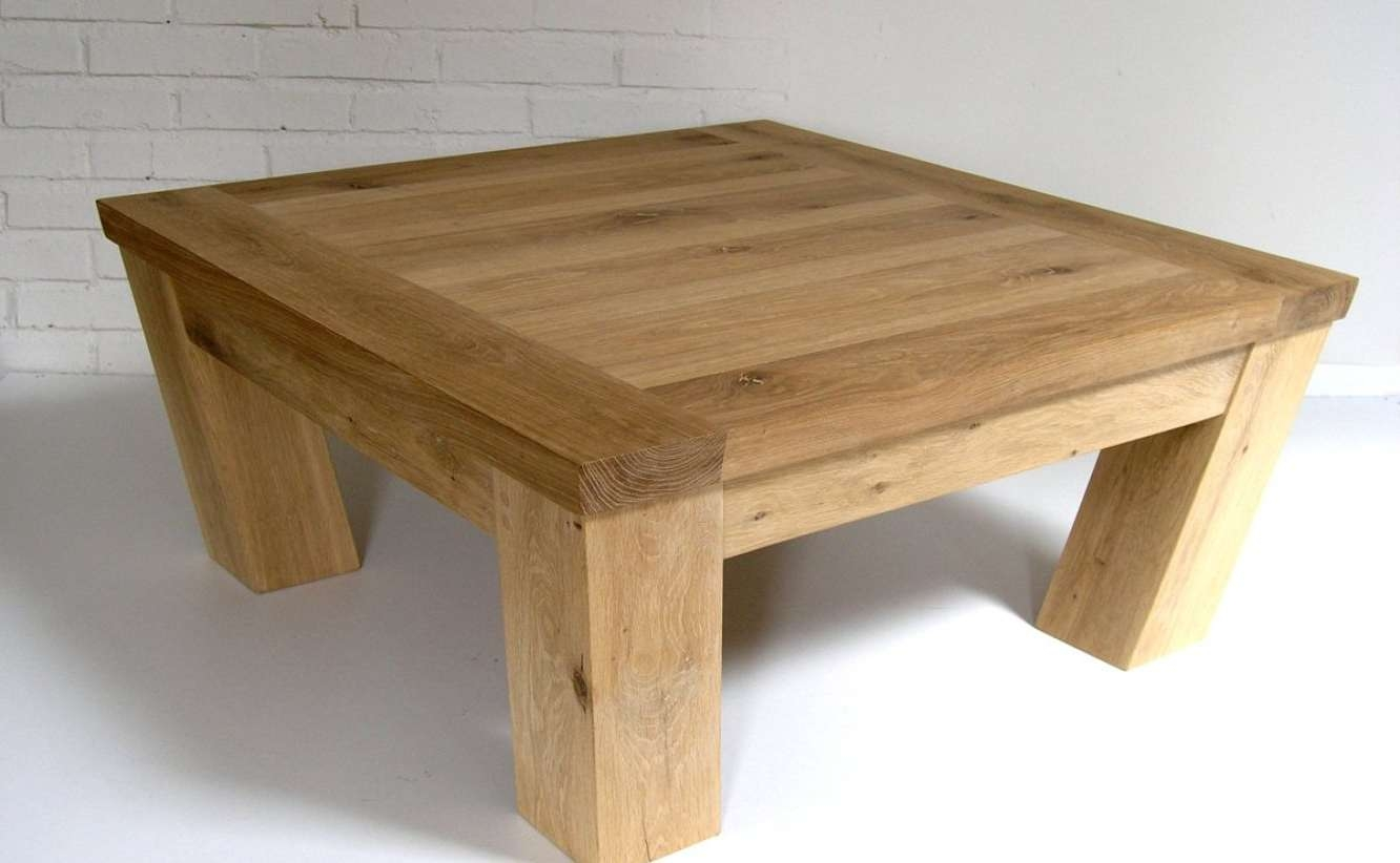 2018 Large Square Oak Coffee Tables In Ikea Storage Garage Collection