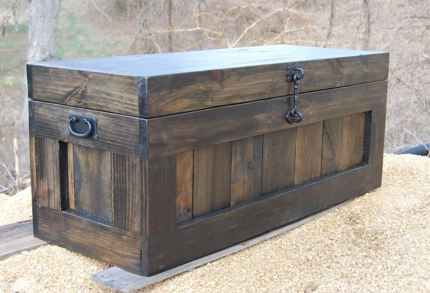 2018 Large Trunk Coffee Tables Pertaining To Large Hope Chest/coffee Table/ Entry/ Trunk/ Wooden Chest/ (View 2 of 20)