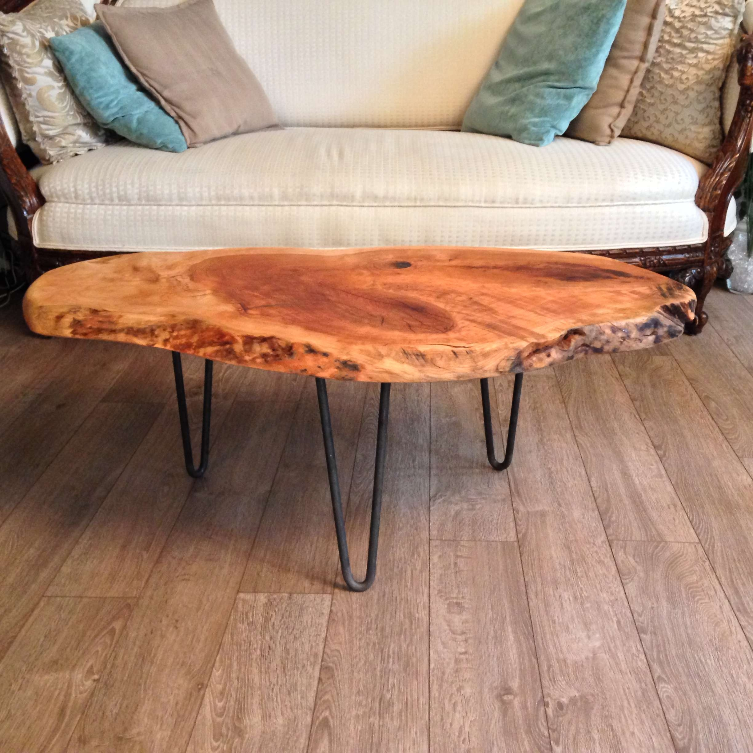 2018 Live Edge Coffee Tables Throughout Live Edge Cherry Knot Coffee Table – Aj's Antique Revival (View 2 of 20)