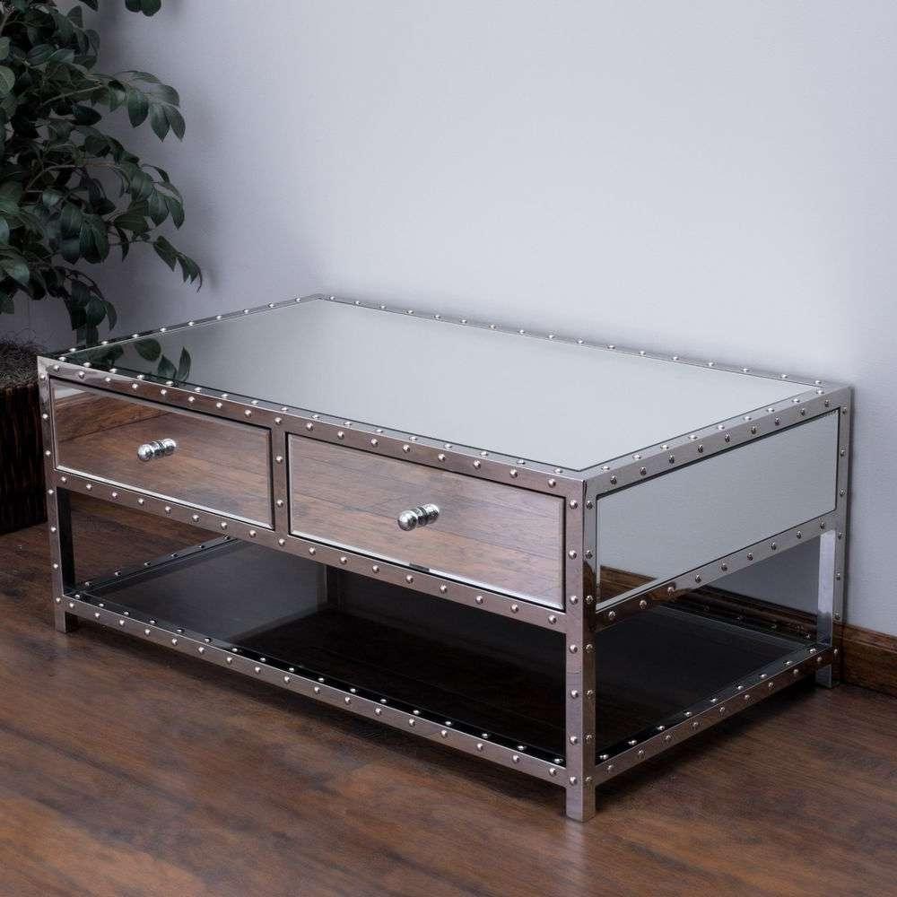 2018 Mirror Glass Coffee Table Regarding Mirrored Coffee Table (View 1 of 20)