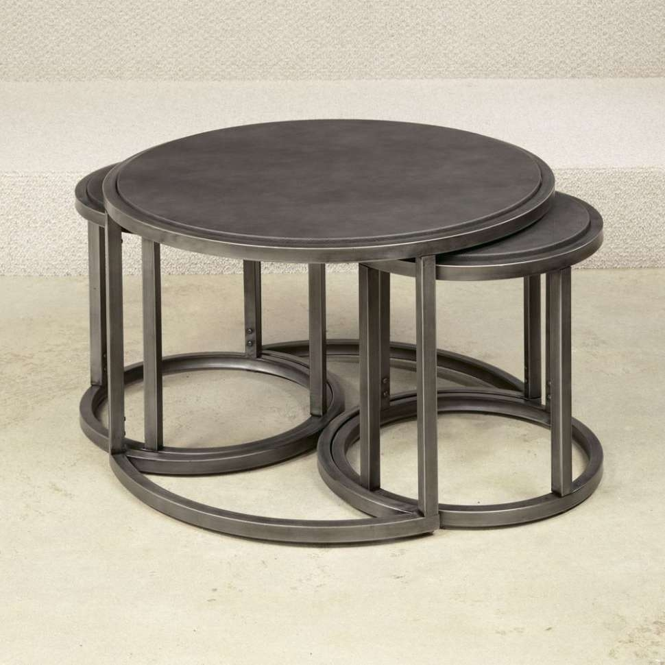 2018 Nest Coffee Tables Regarding Coffee Table : Awesome Glass Nesting Coffee Tables Glass And (View 3 of 20)