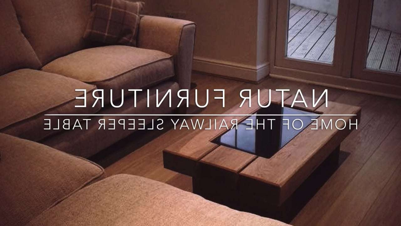 2018 Oak Sleeper Coffee Tables With Natur Furniture – Home Of The Chunky Oak Railway Sleeper Table (View 17 of 20)