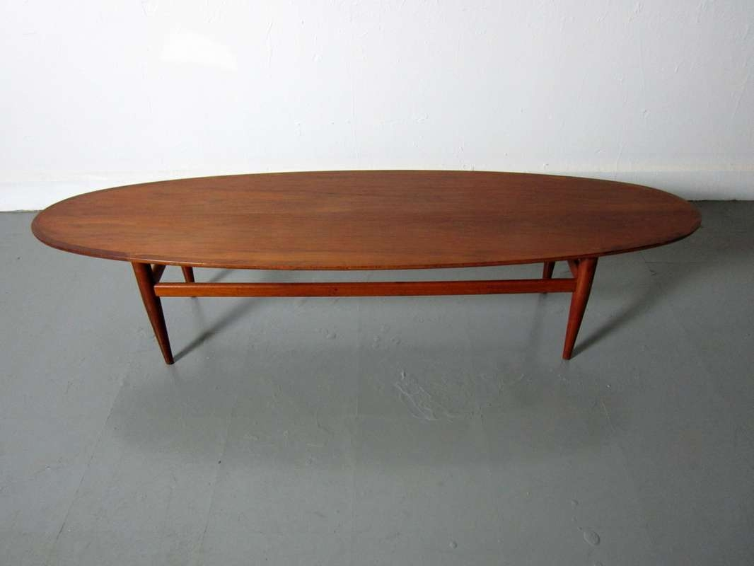 2018 Oval Walnut Coffee Tables Intended For Modern Table Gallery 3 Of 20