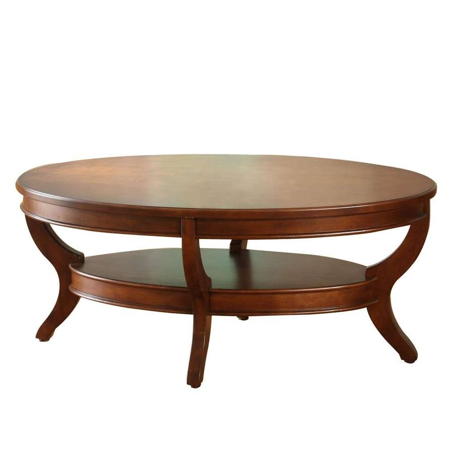 2018 Oval Wooden Coffee Tables Intended For Coffee Tables : Oval Glass Coffeeble With Gold Base Metal (View 1 of 20)