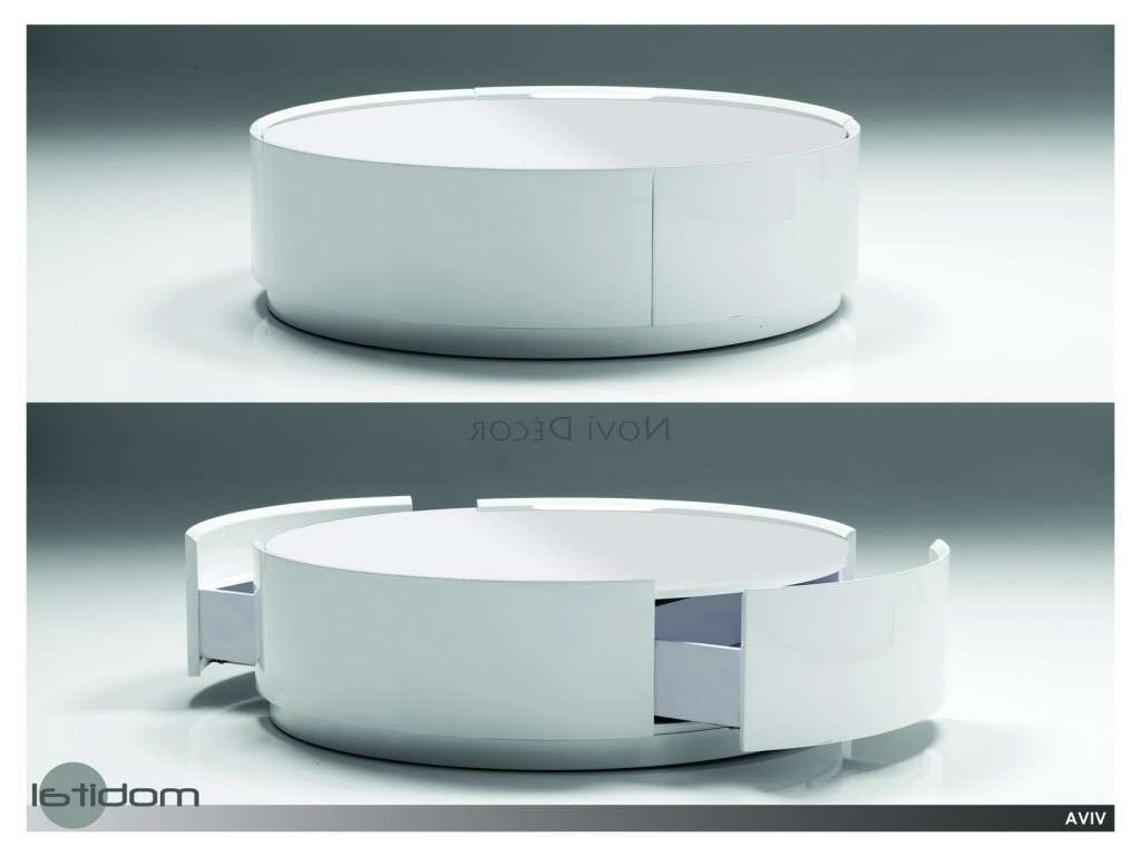 2018 Round Coffee Tables With Storages In Round Coffee Table With Storage Unique Modern Coffee Tables (View 10 of 20)