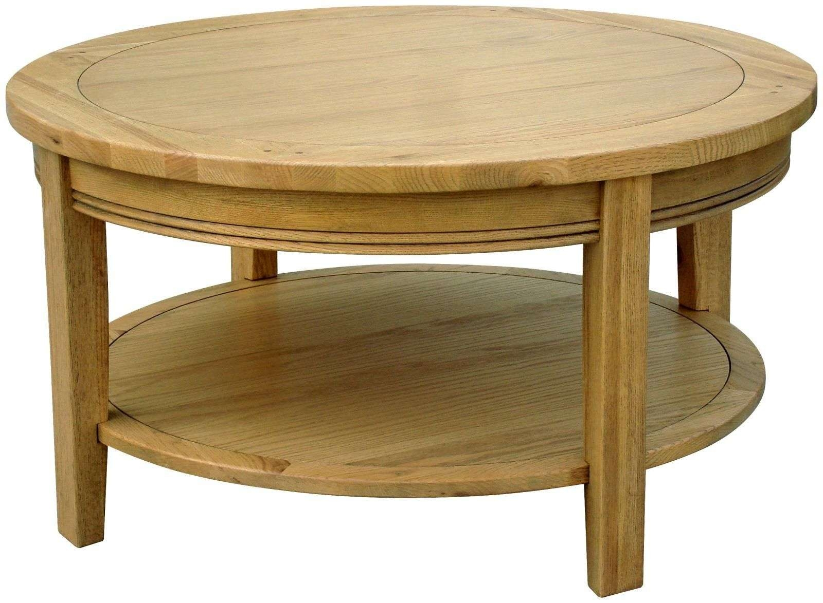 2018 Round Oak Coffee Tables Intended For Interior (View 1 of 20)