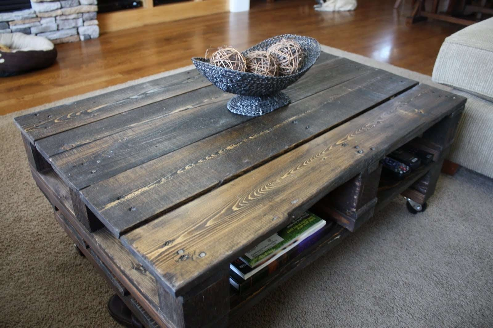 2018 Rustic Wood Diy Coffee Tables Inside Make A Rustic Coffee Table With Wheels Within Rustic Coffee Tables (View 1 of 20)