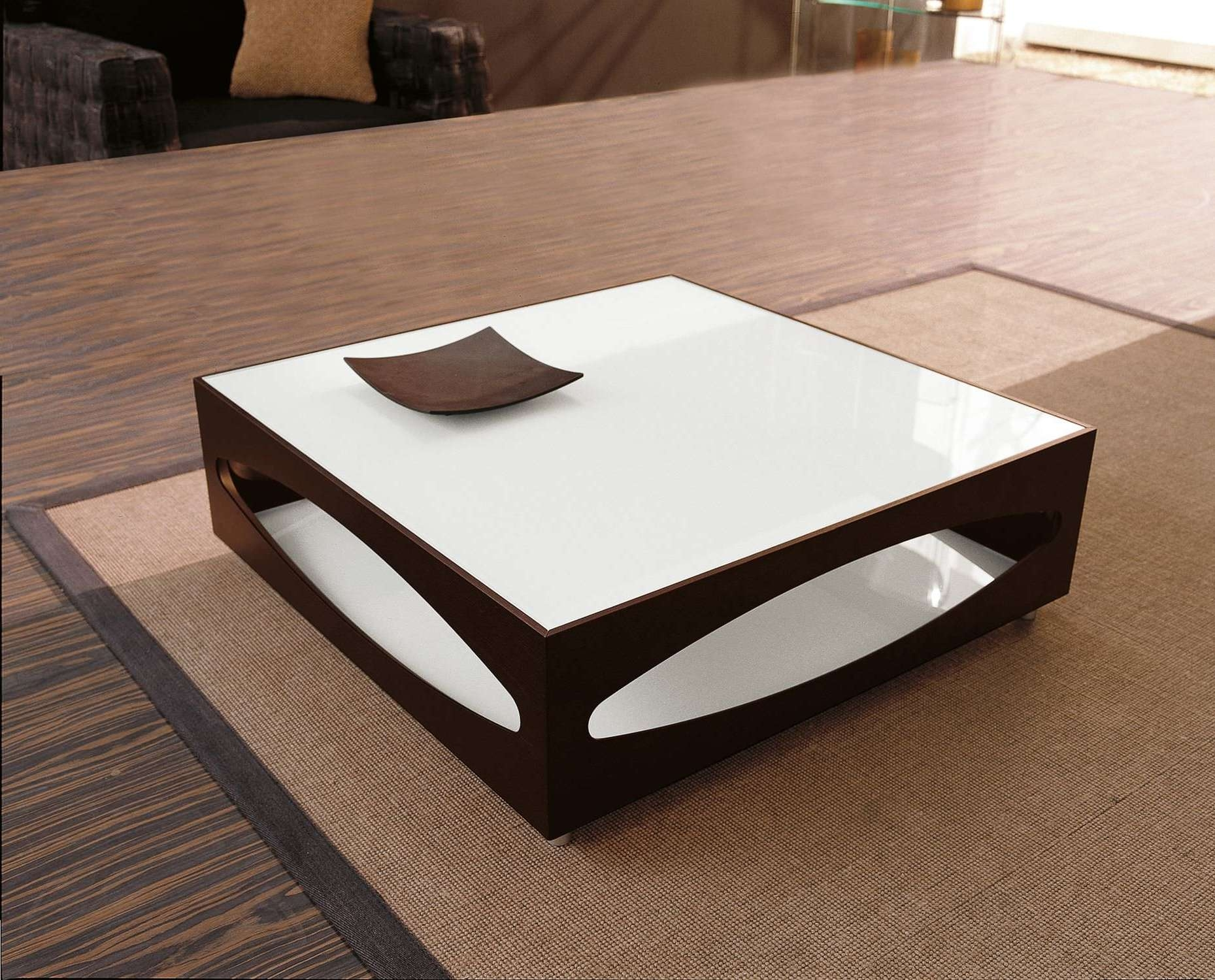 2018 Square Coffee Table Modern In Decorations : Furniture Table And Chairs Large Coffee Table Round (View 6 of 20)