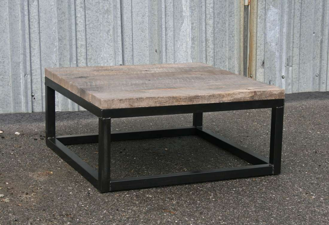 2018 Square Wooden Coffee Table Within Square Reclaimed Wood Coffee Table (View 15 of 20)