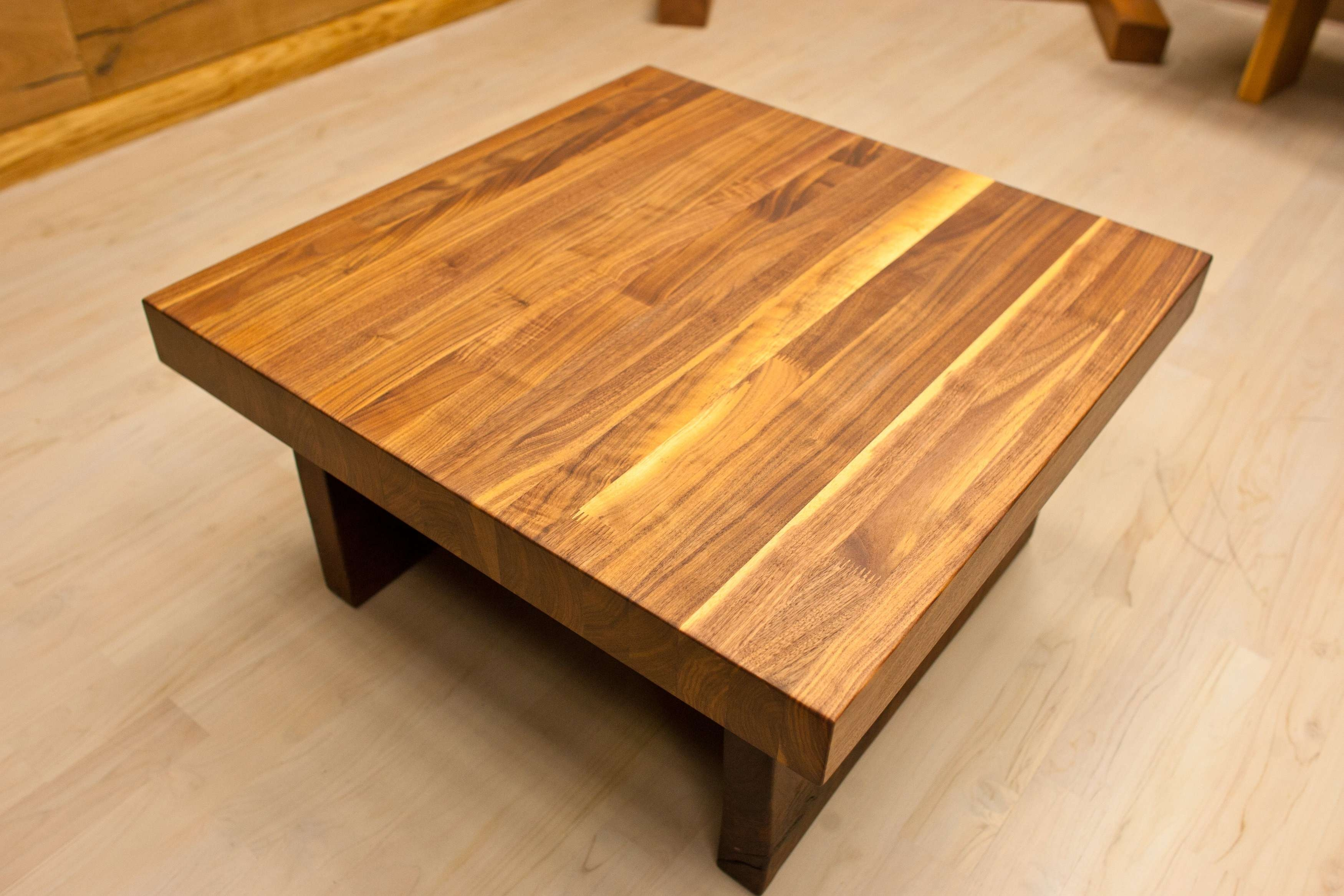 2018 Square Wooden Coffee Tables For Coffee Table : Square Woode Table Sets With Glass Inserts Tables (View 2 of 20)