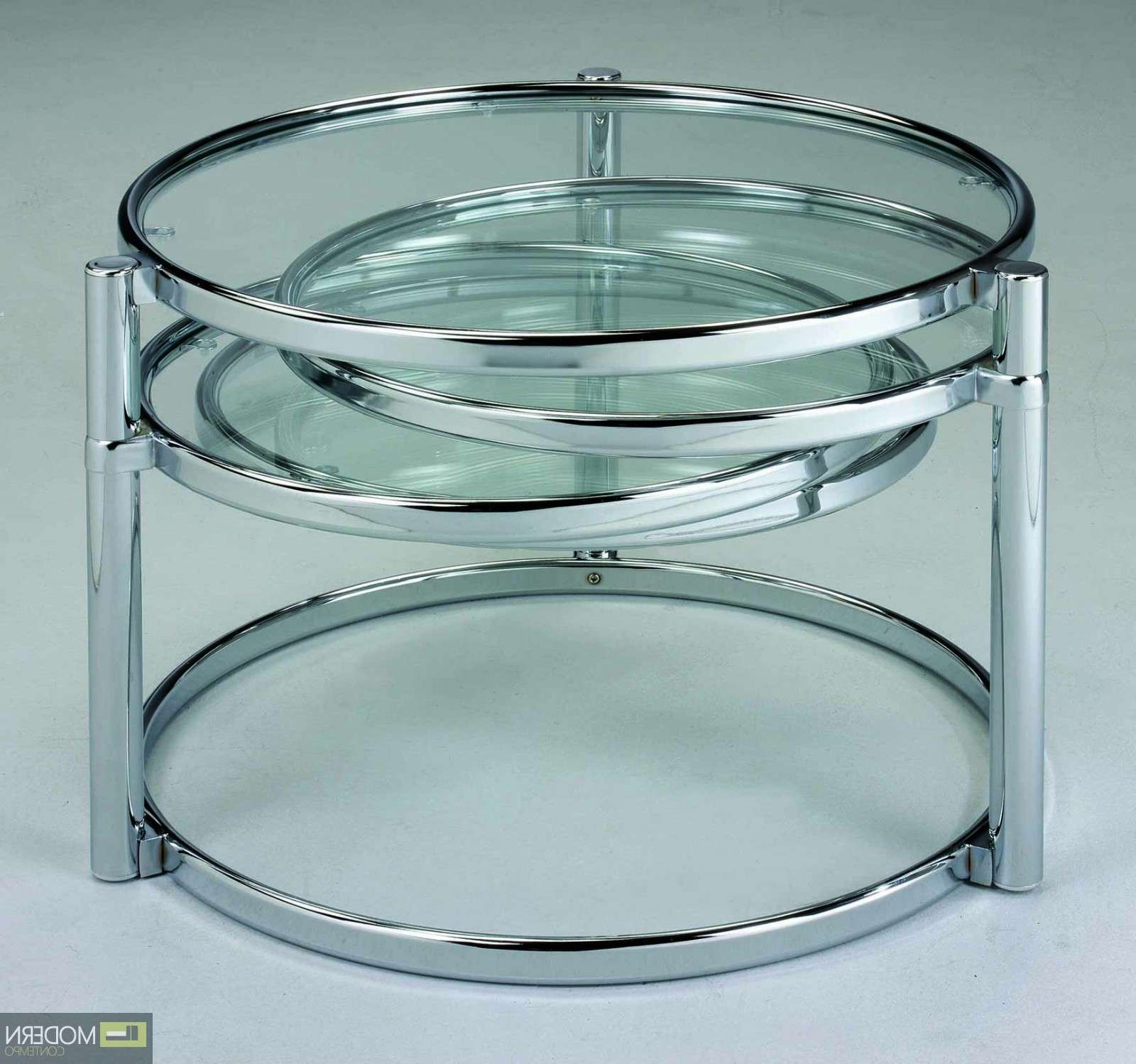 2018 Swivel Coffee Tables For Glass Coffee Tables: Excellent Glass Swivel Coffee Table Design (View 2 of 20)