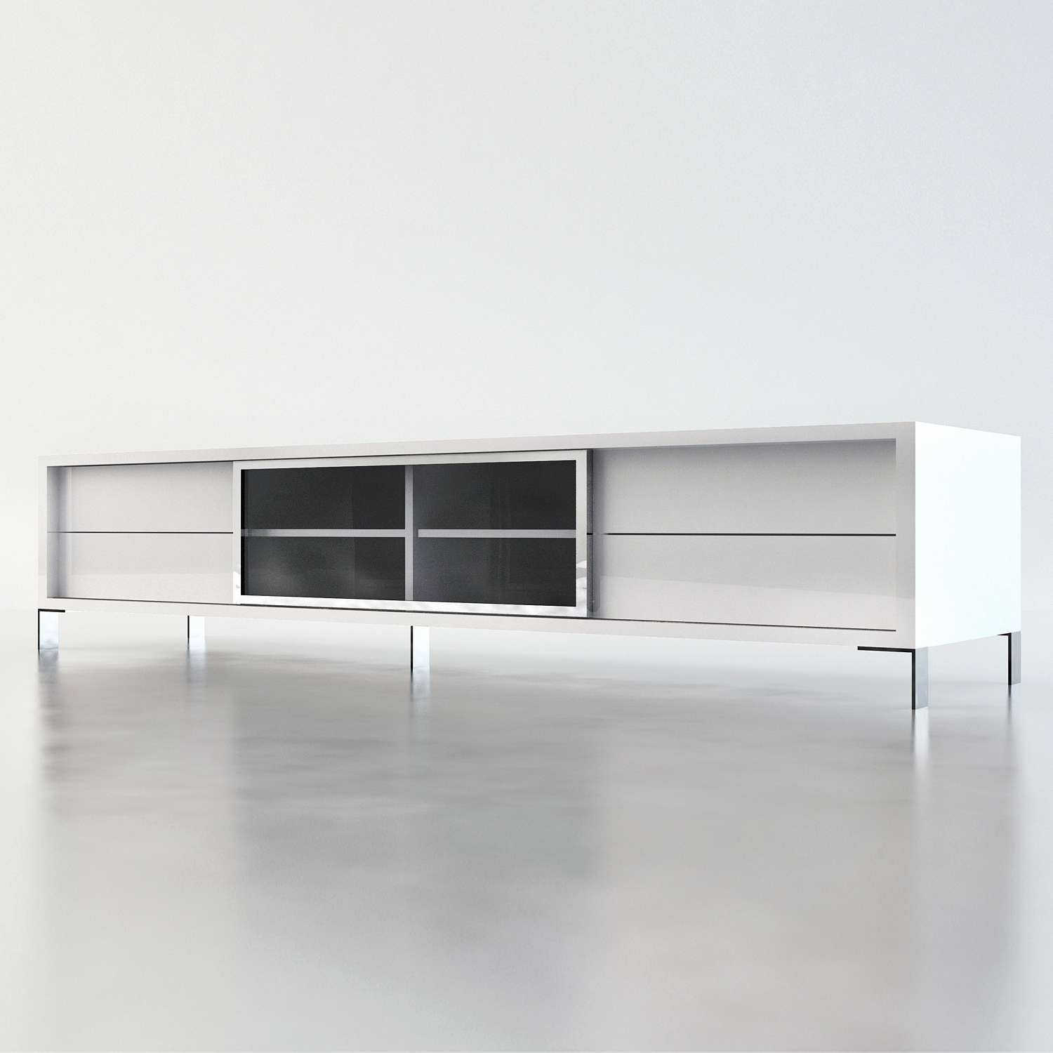 25 Awesome Long Tv Stands – Home Furniture Ideas – Home Furniture Intended For Long White Tv Cabinets (View 6 of 20)