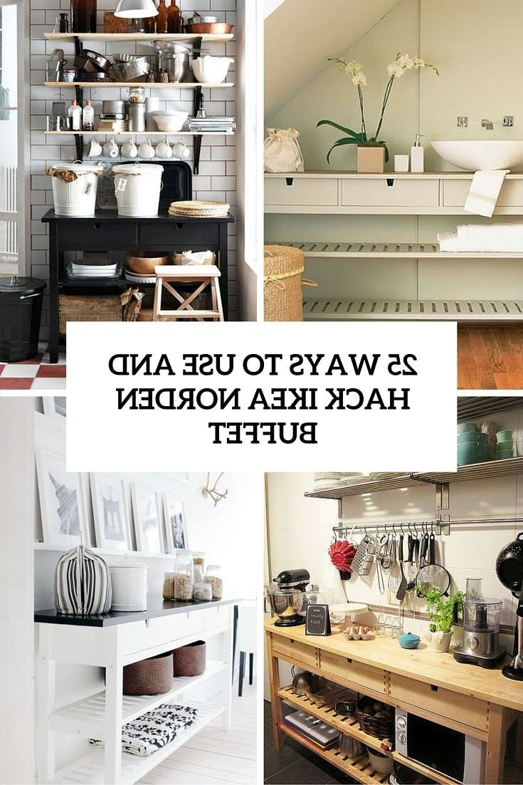 25 Ways To Use And Hack Ikea Norden Buffet – Digsdigs In Ikea Norden Sideboards (View 9 of 20)