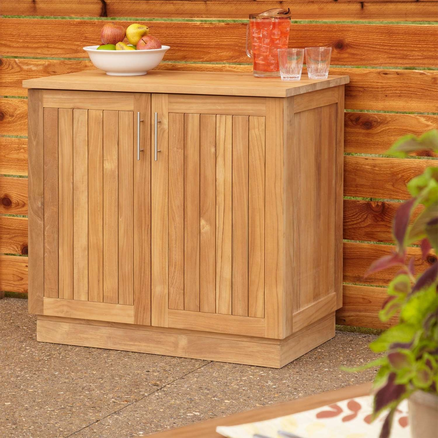 "36"" Artois Teak Outdoor Kitchen Cabinet – Outdoor Intended For Outdoor Sideboards Cabinets (View 1 of 20)"