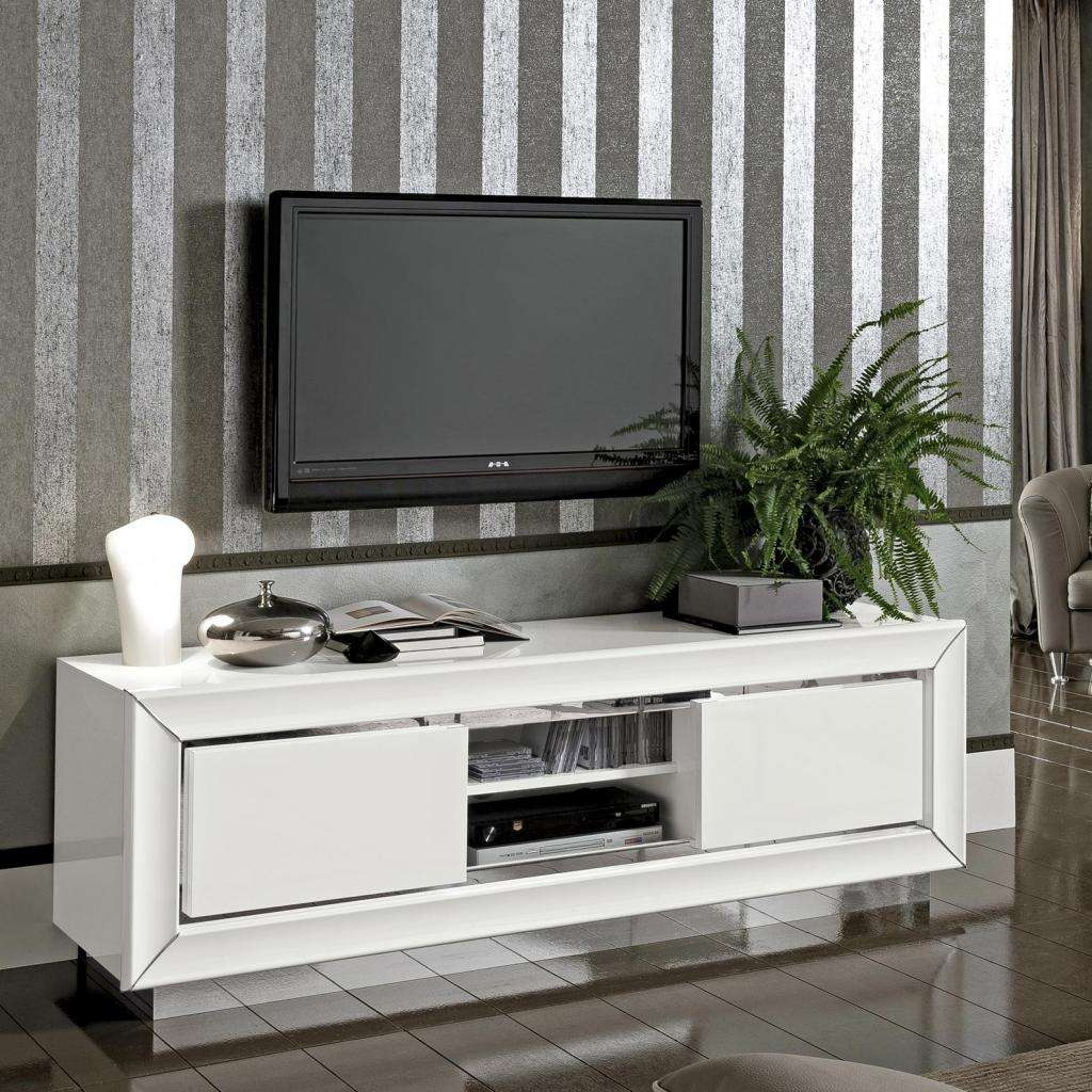 37 Formidable Brown And White Tv Stand Photos Design Brown And Regarding High Gloss White Tv Cabinets (View 1 of 20)