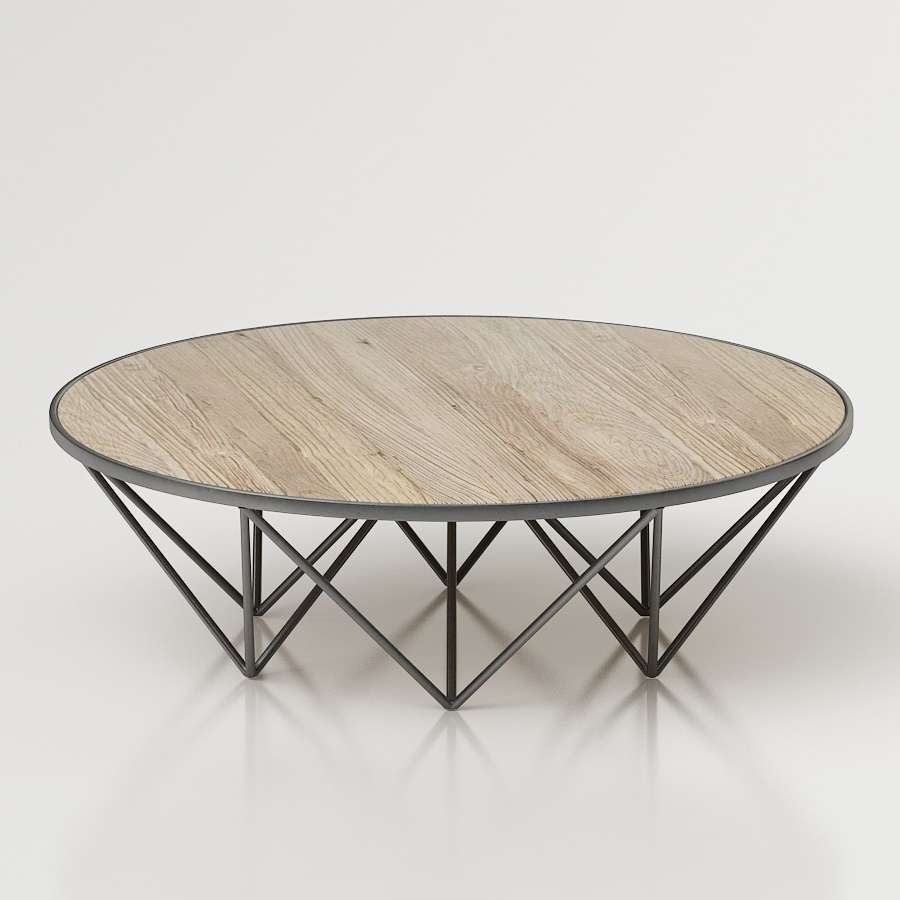 3D Tribeca Round Coffee Table – High Quality 3D Models Pertaining To Widely Used Tribeca Coffee Tables (Gallery 5 of 20)