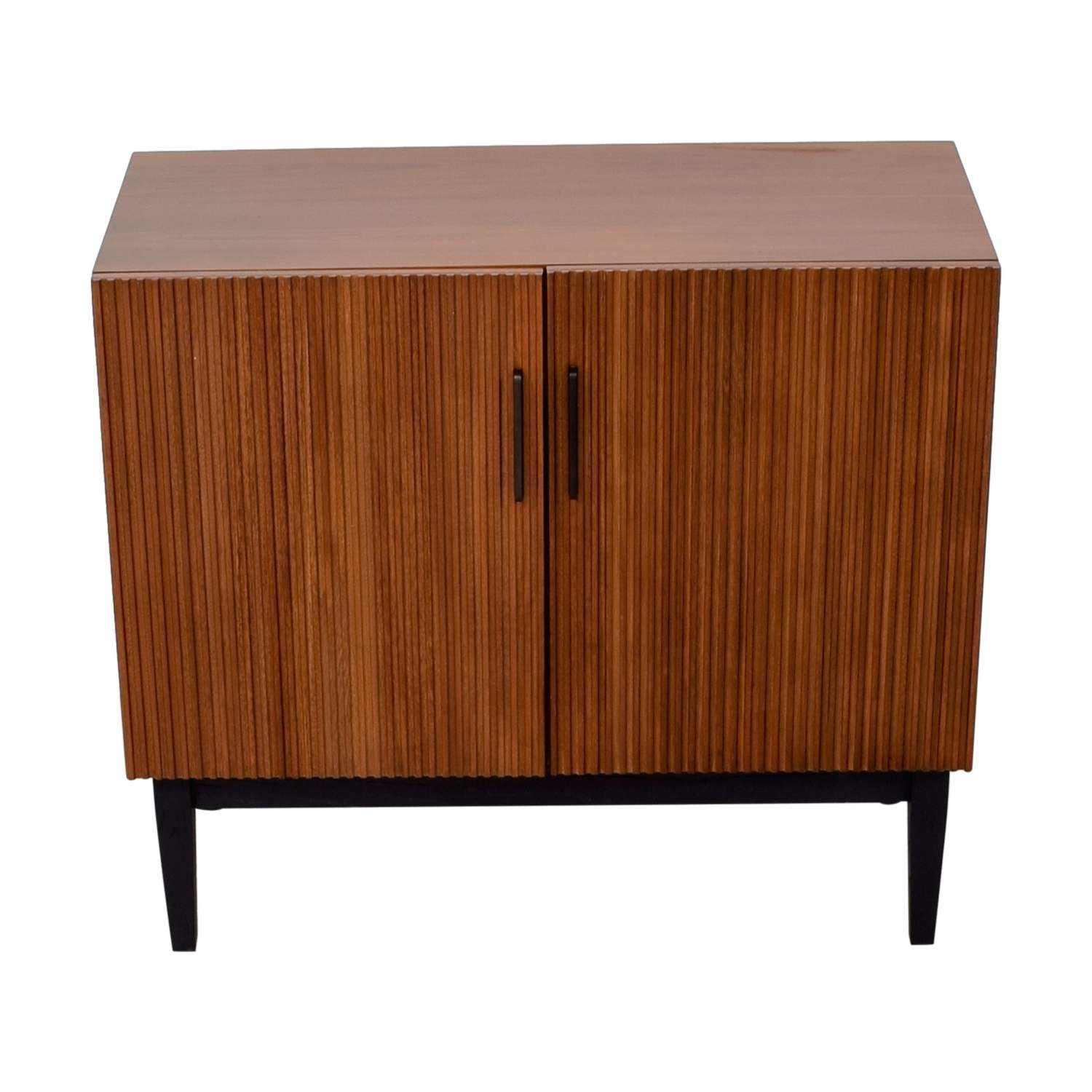 45% Off – West Elm West Elm Wood Bar Cabinet / Storage Throughout Sideboards Bar Cabinet (View 2 of 20)