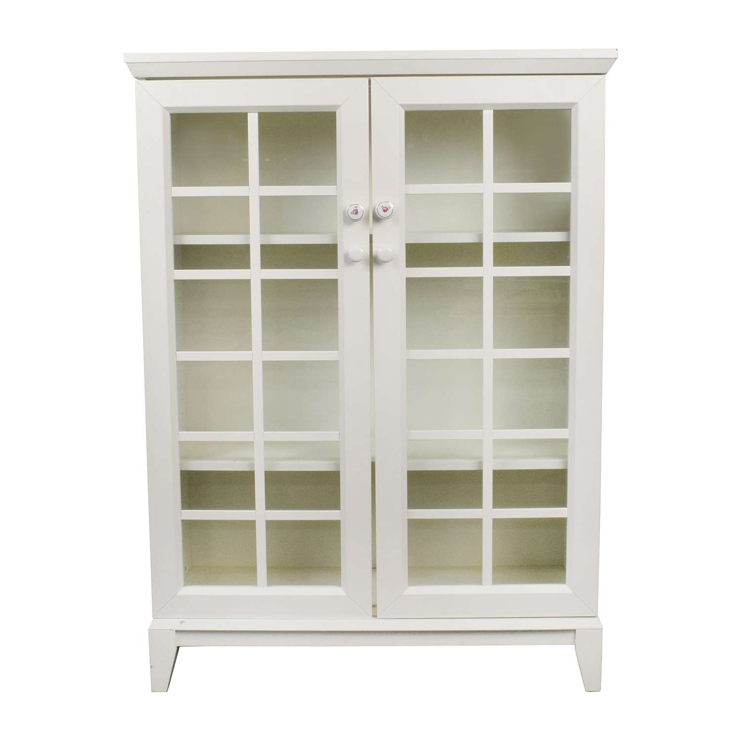 48% Off – Crate And Barrel Crate And Barrel White China Cabinet Inside Crate And Barrel Sideboards (Gallery 7 of 20)