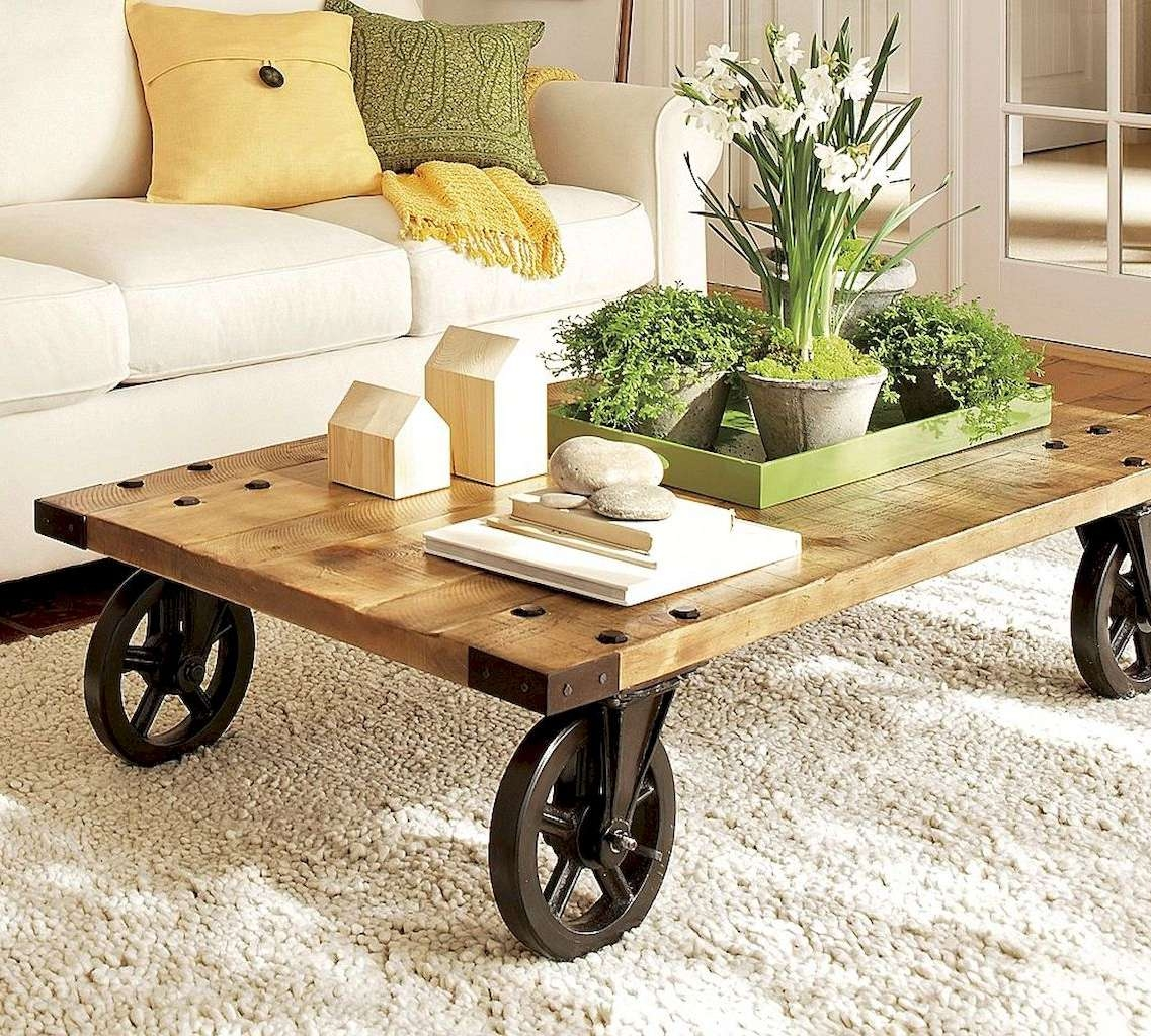 50 Rustic Diy Farmhouse Coffee Table Ideas – Besideroom Regarding Favorite Farmhouse Coffee Tables (View 2 of 20)