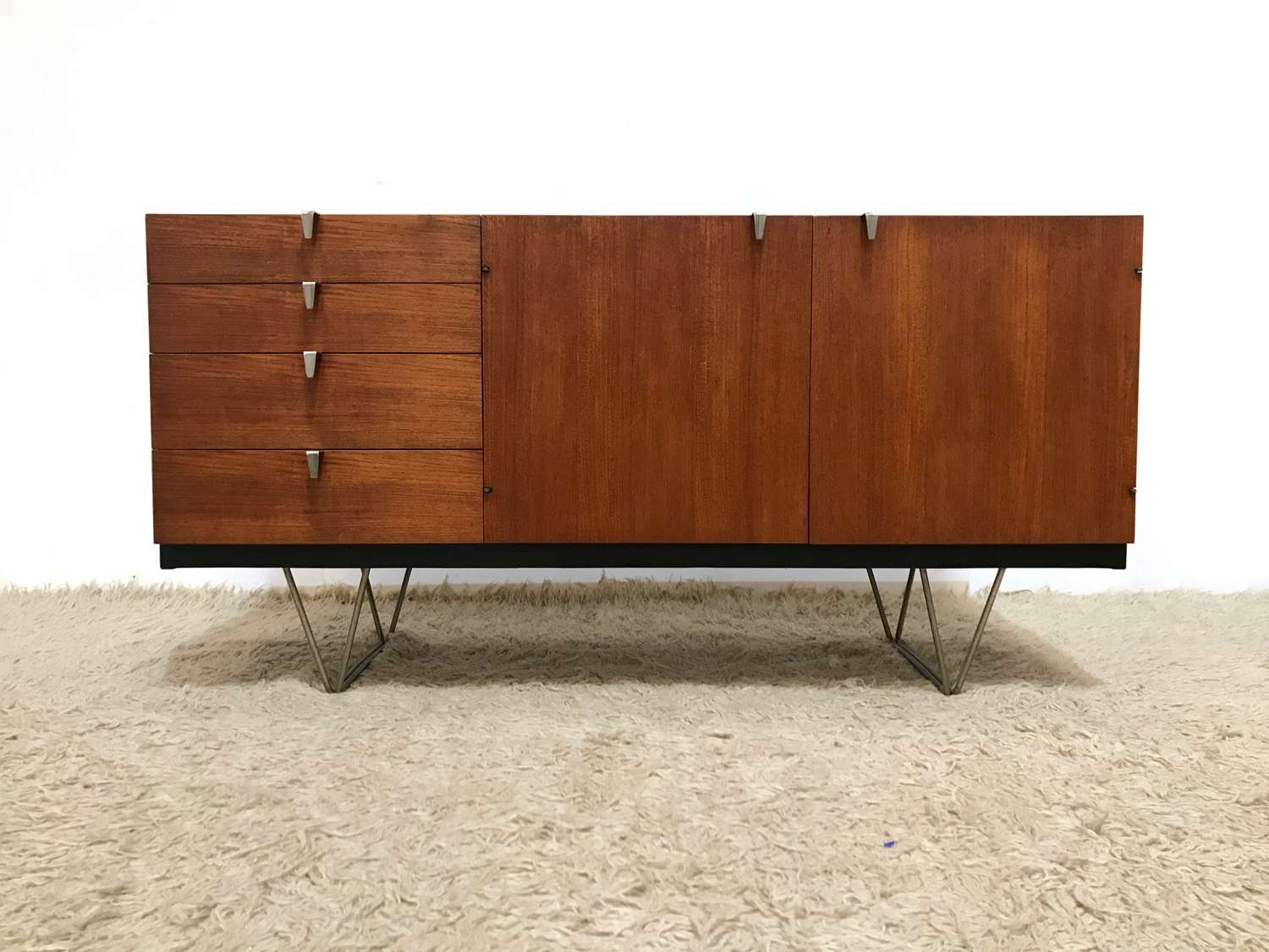 50S 60S Rare Elegant Mid Century Modernist Stag S Range Sideboard Within 50S Sideboards (Gallery 2 of 20)