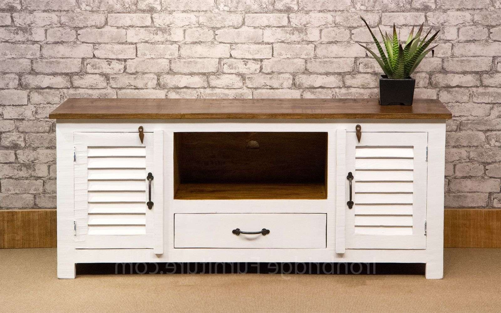 518 Vintage Style Painted Long Tv Cabinet – Farrow & Ball No (View 7 of 20)