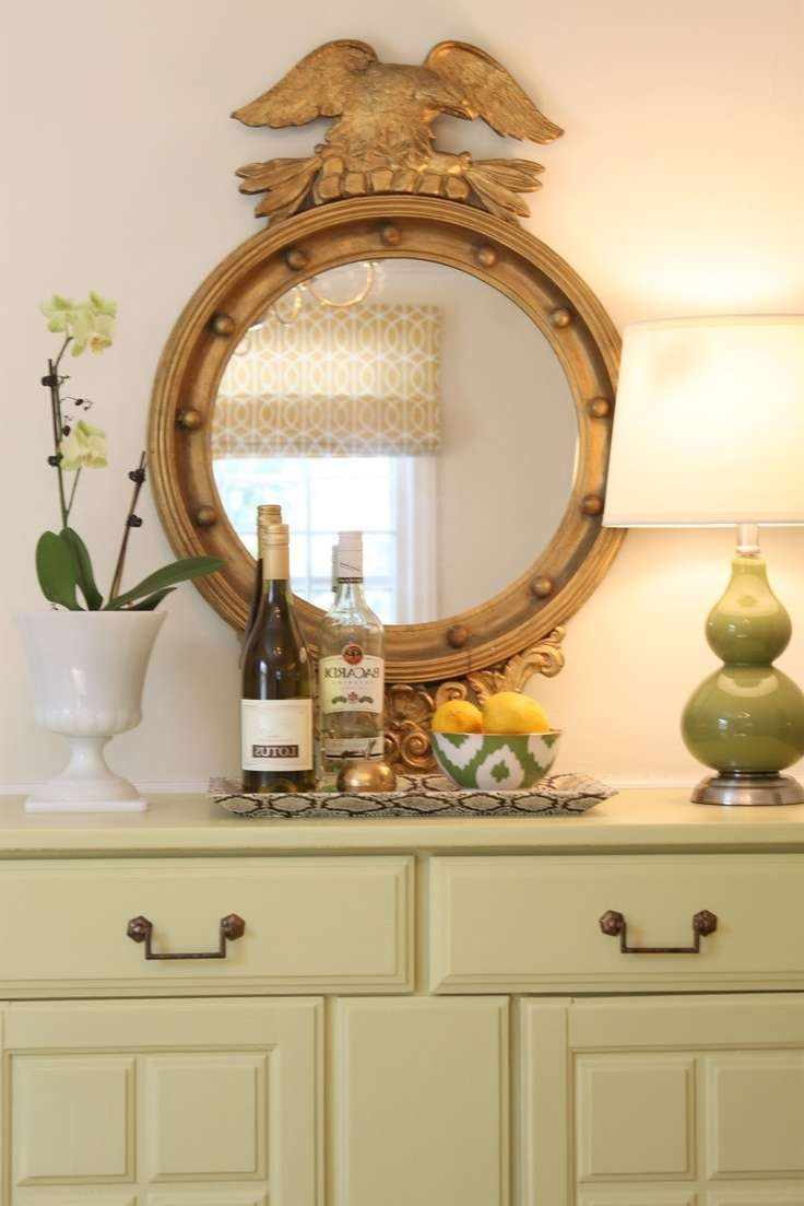 61 Best Bullseye Mirrors Images On Pinterest | Homes, Living Room Inside Mirror Over Sideboards (View 3 of 20)