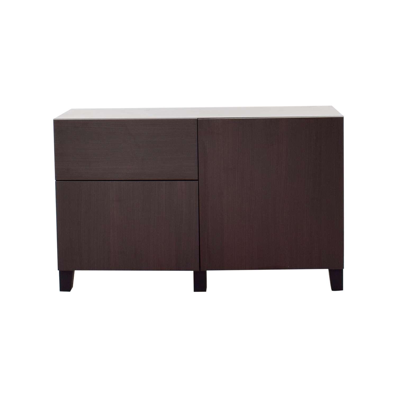 66% Off – Ikea Ikea Dark Brown Storage Sideboard / Storage With Regard To Dark Sideboards (View 9 of 20)