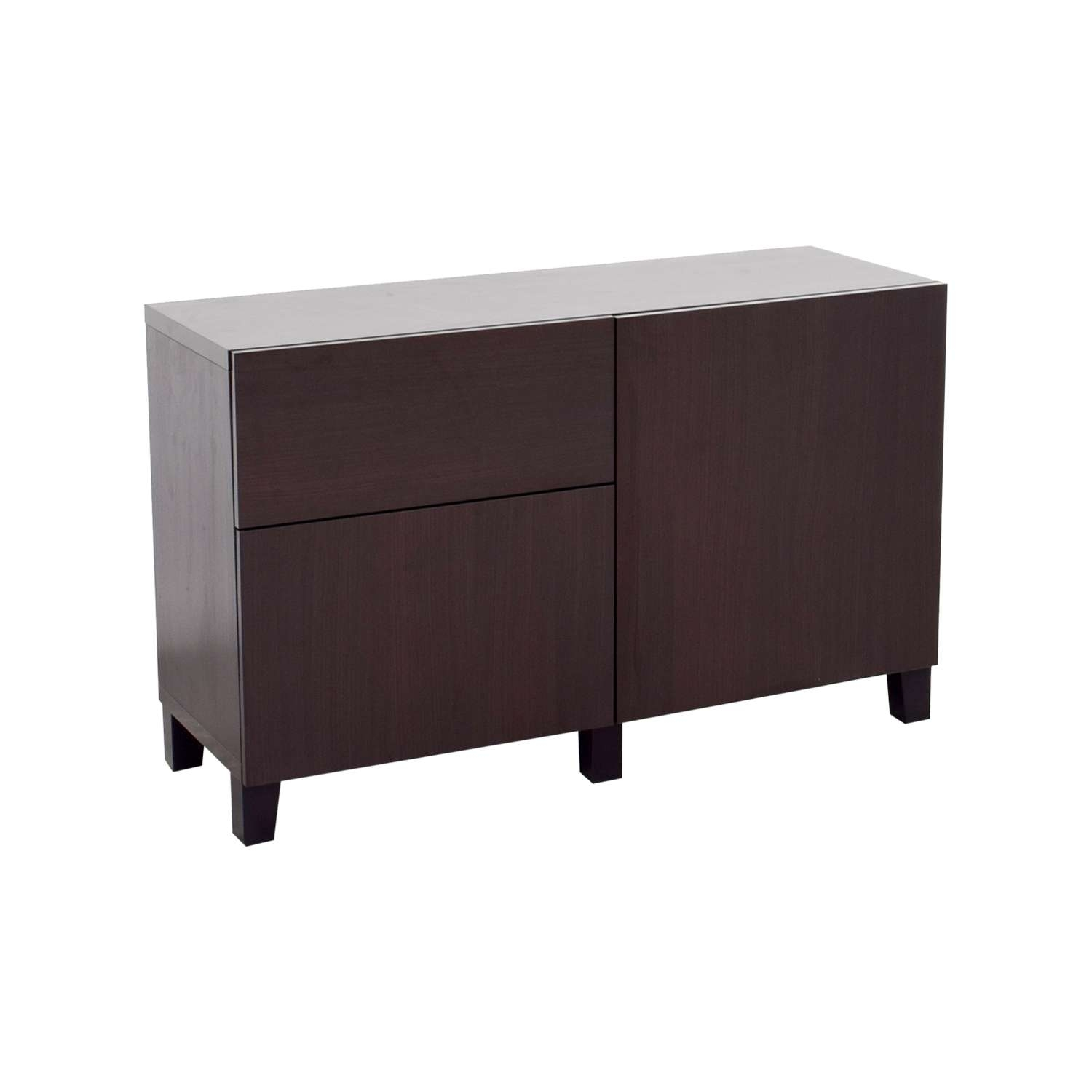 66% Off – Ikea Ikea Dark Brown Storage Sideboard / Storage Within Dark Brown Sideboards (View 2 of 20)