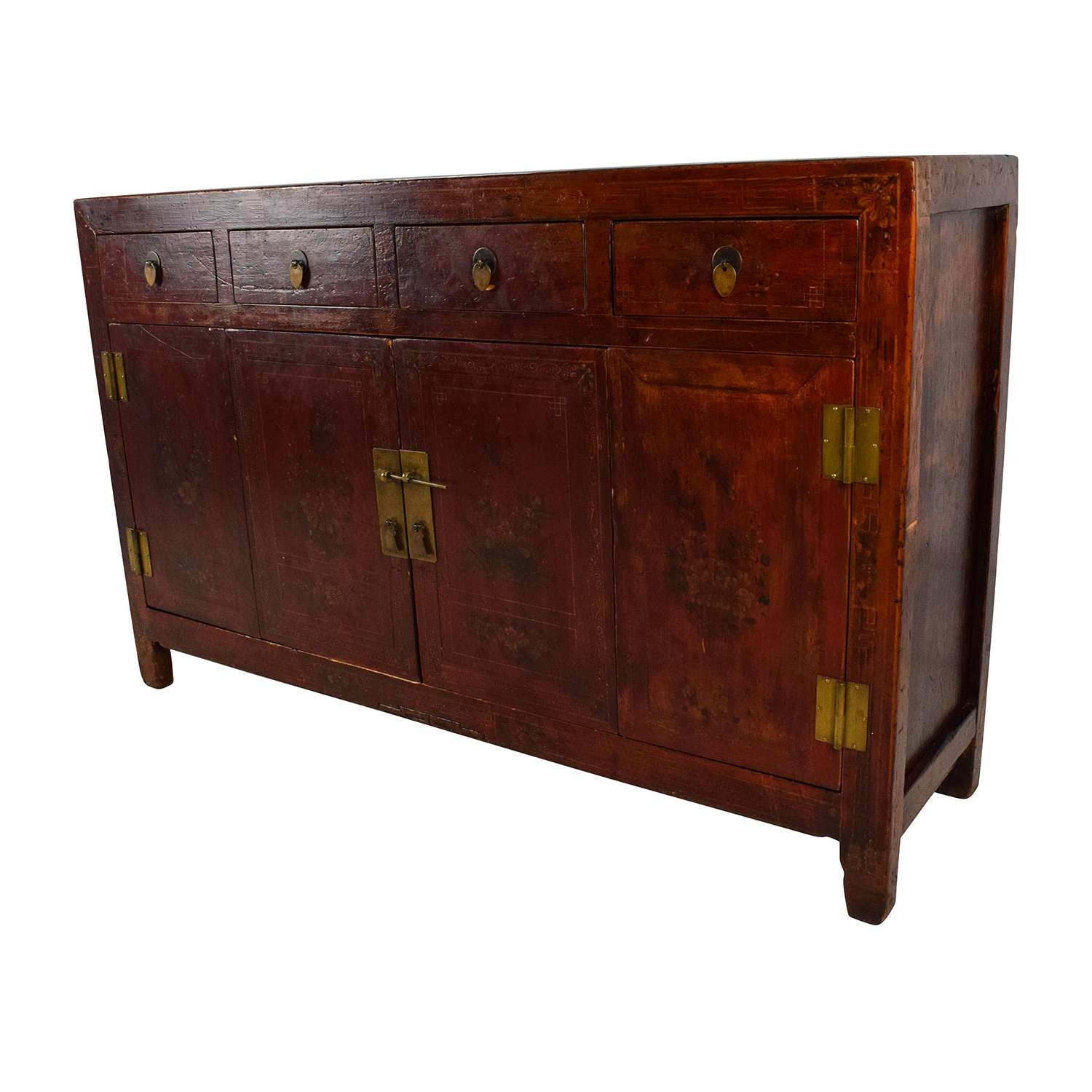 66% Off – Solid Wood Southeast Asian Credenza / Storage Within Asian Sideboards (View 7 of 20)