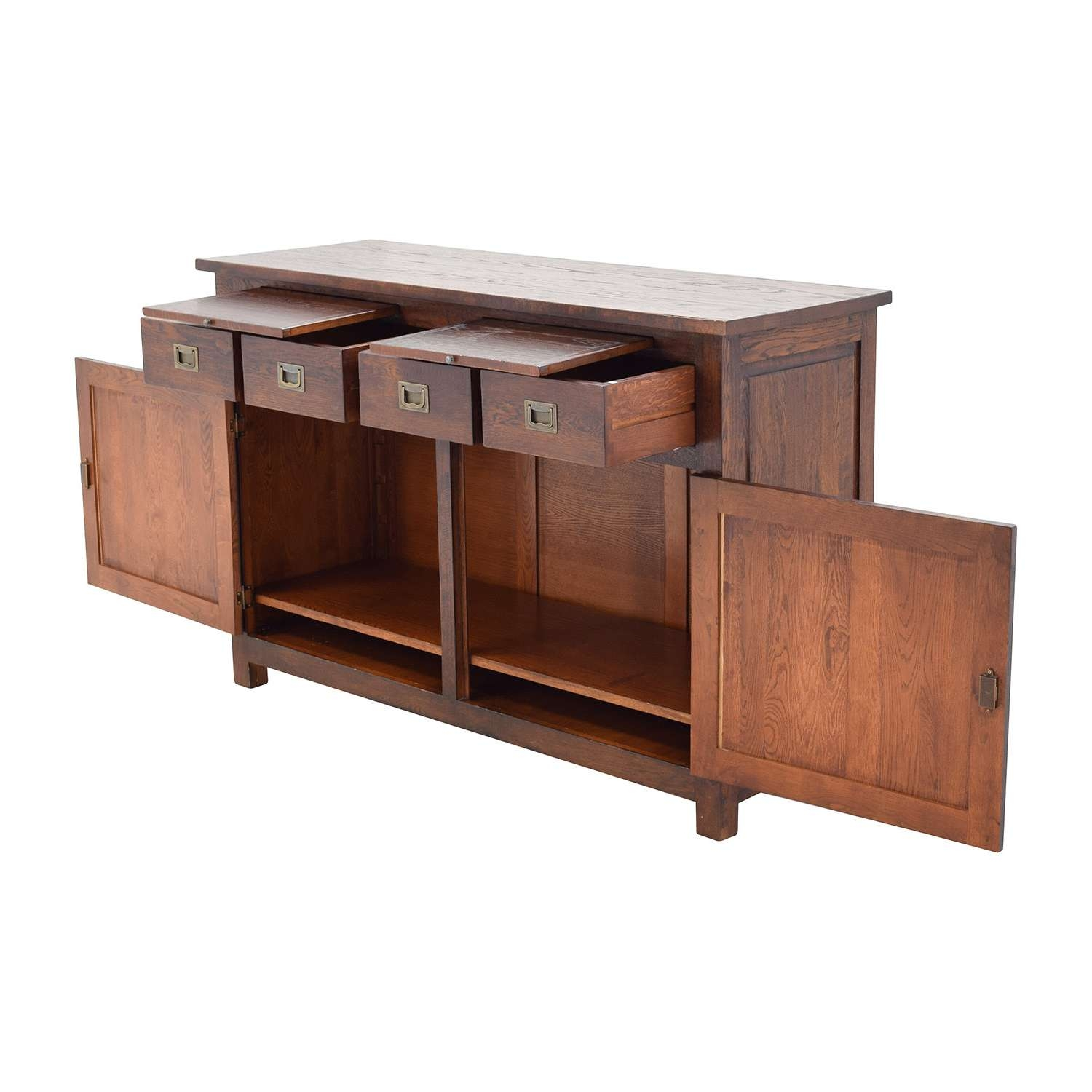 67% Off – Crate And Barrel Crate & Barrel Bordeaux Buffet Within Crate And Barrel Sideboards (View 4 of 20)