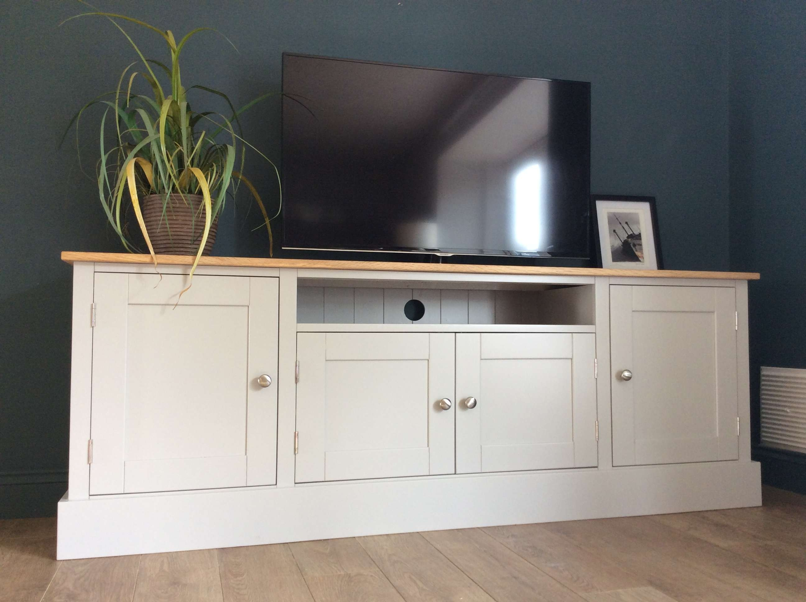 6ft Solid Pine & Oak Tv Cabinet – Nest At Number 20 Throughout Solid Oak Tv Cabinets (View 13 of 20)