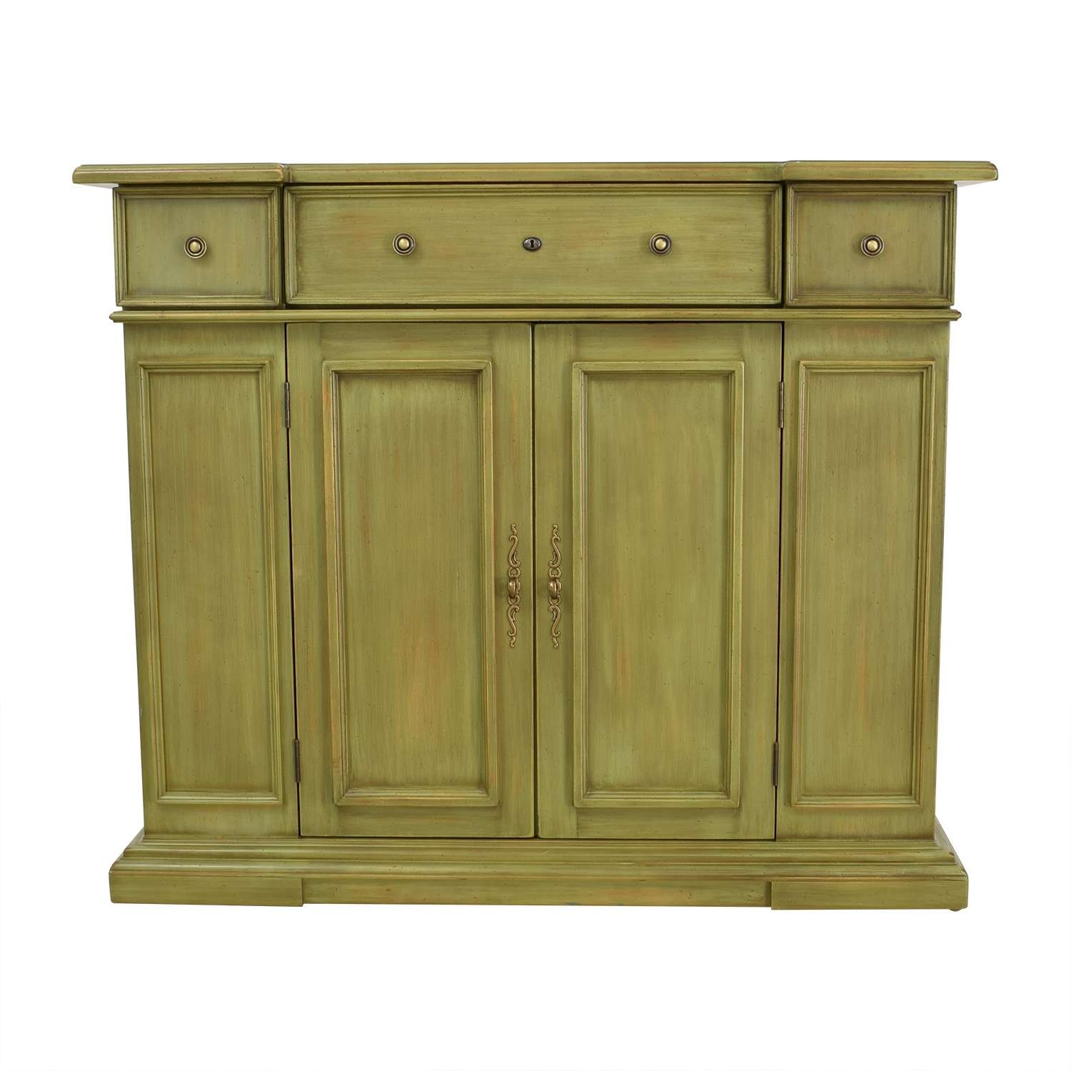 76% Off – Breakfront Breakfront Lime Green Cabinet With Storage Intended For Green Sideboards (View 1 of 20)
