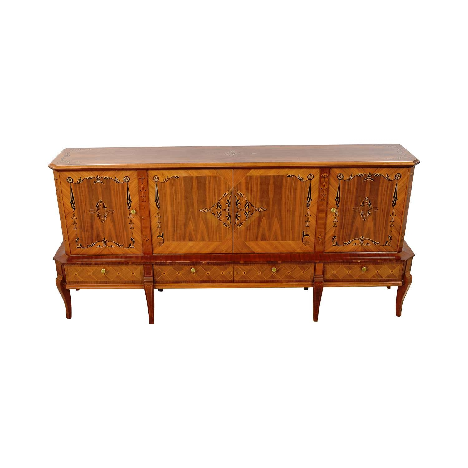76% Off – Romanian Sheraton Solid Wood Sideboard / Storage With Regard To Solid Wood Sideboards (View 15 of 20)