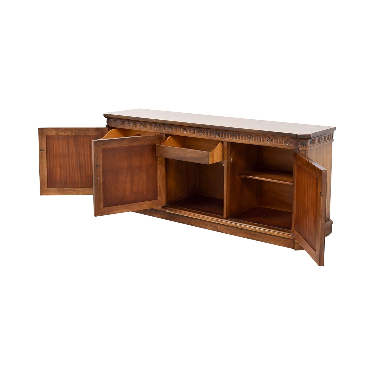 78% Off – Vintage Buffet Server / Storage Throughout Sideboards Buffet Servers (View 19 of 20)