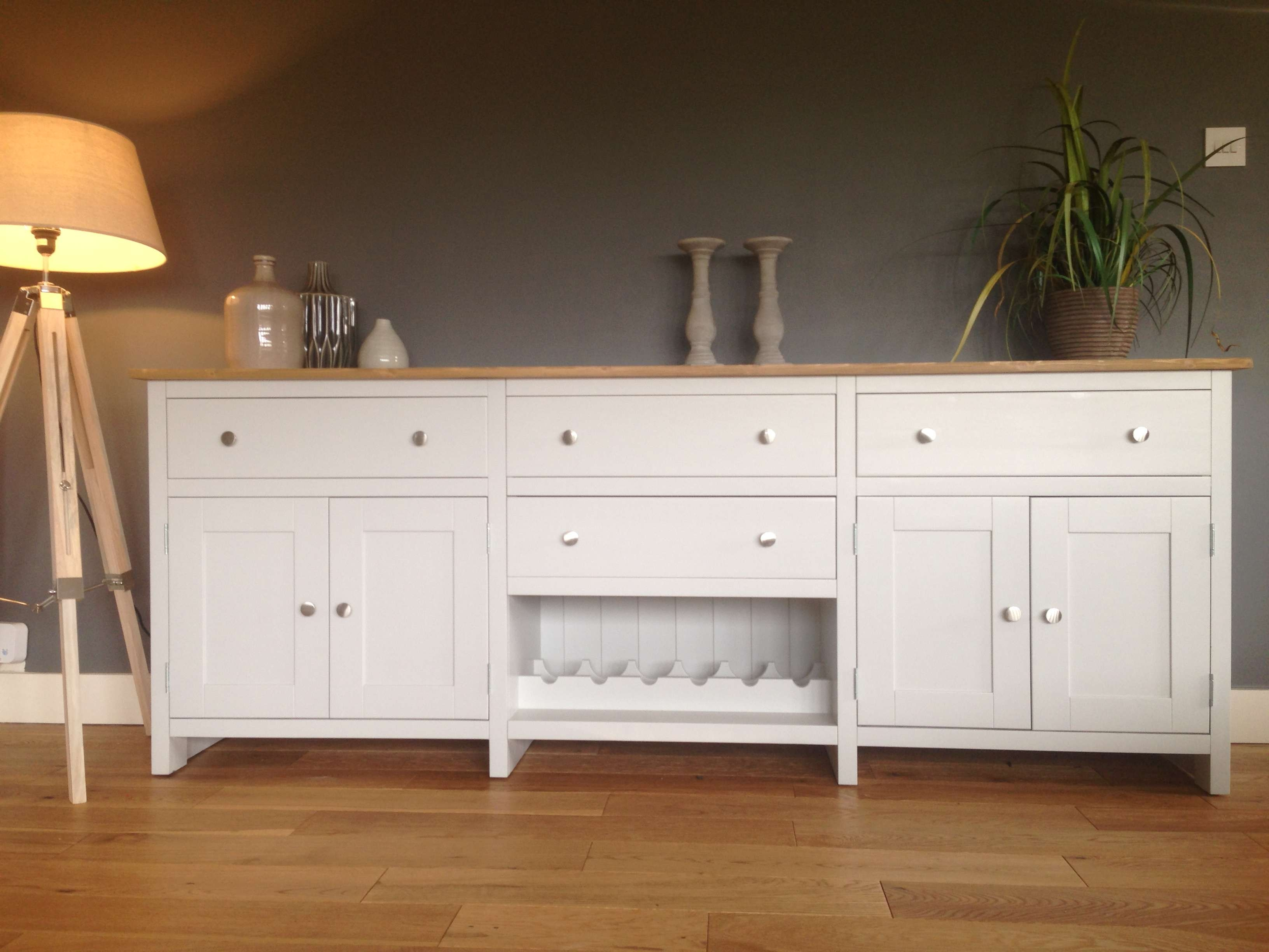 7Ft Solid Pine Sideboard With Wine Rack – Nest At Number 20 With Pine Sideboards (View 1 of 20)