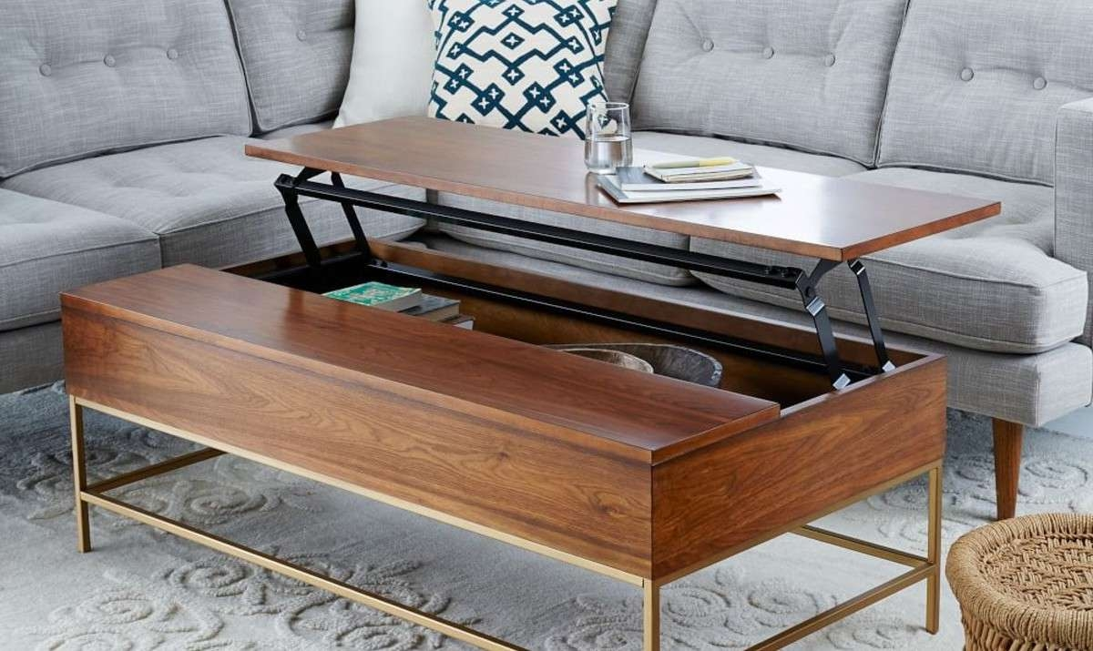 8 Best Coffee Tables For Small Spaces Pertaining To Most Popular Storage Coffee Tables (Gallery 6 of 20)