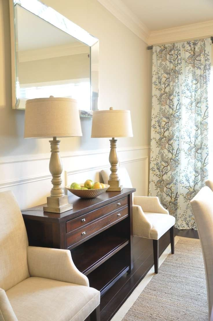 8 Best Decorating Sideboard Images On Pinterest | Black Furniture With Regard To Mirror Over Sideboards (View 5 of 20)