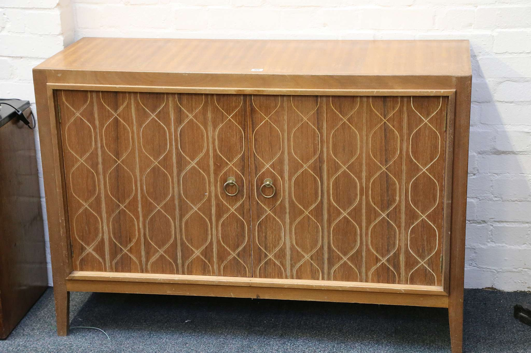 A 1950s Gordon Russell Teak Double Helix Sideboard, With Incised Pertaining To Gordon Russell Helix Sideboards (View 7 of 20)