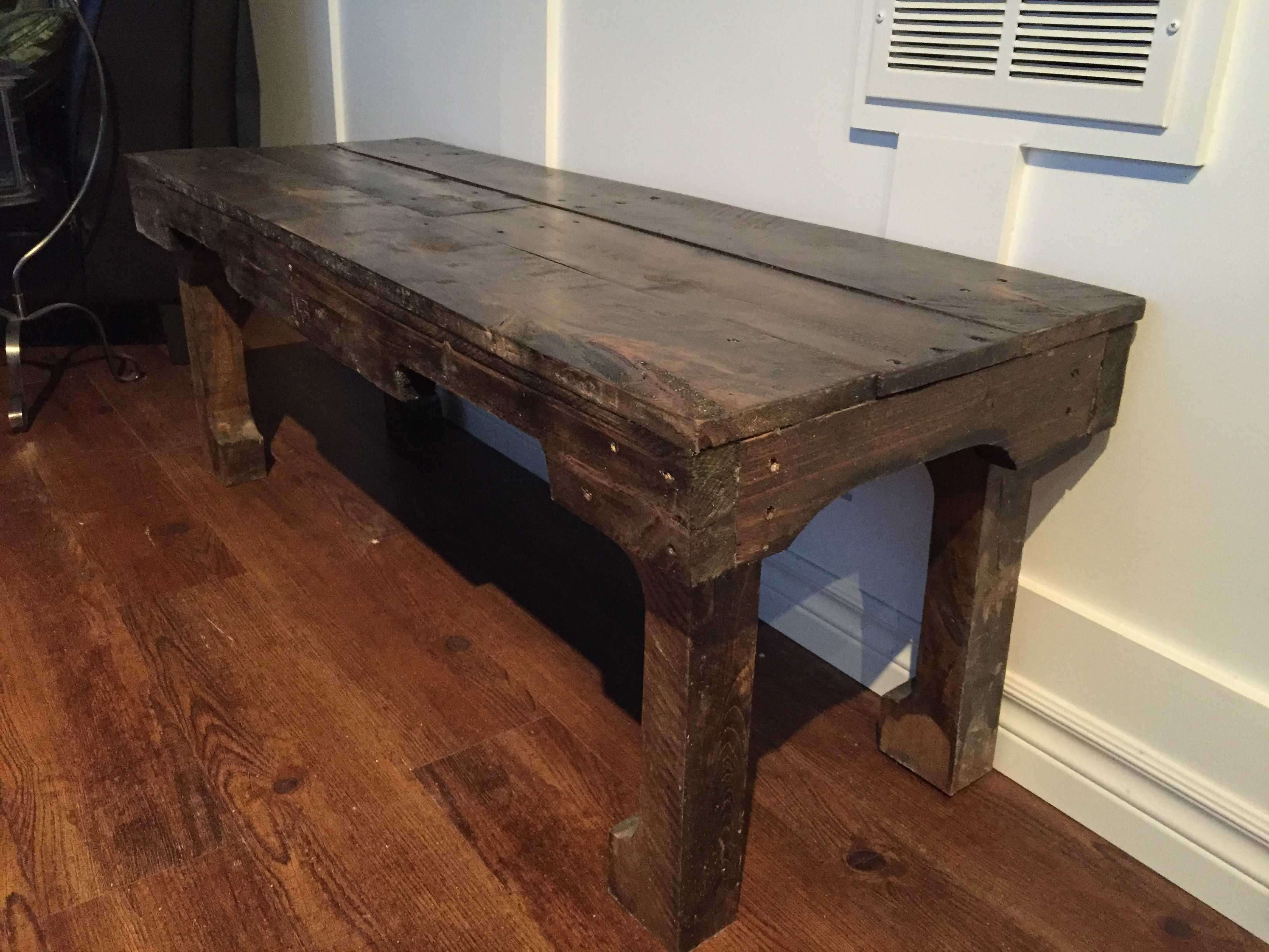 A Dark Walnut Extra Long Coffee Table • 1001 Pallets Intended For Popular Long Coffee Tables (View 2 of 20)