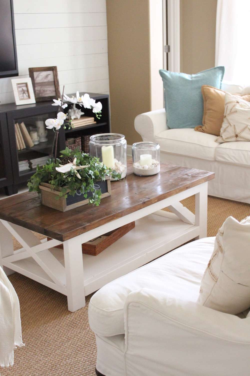 A New Rustic Coastal Coffee Table – Starfish Cottage Within Famous White Cottage Style Coffee Tables (View 1 of 20)