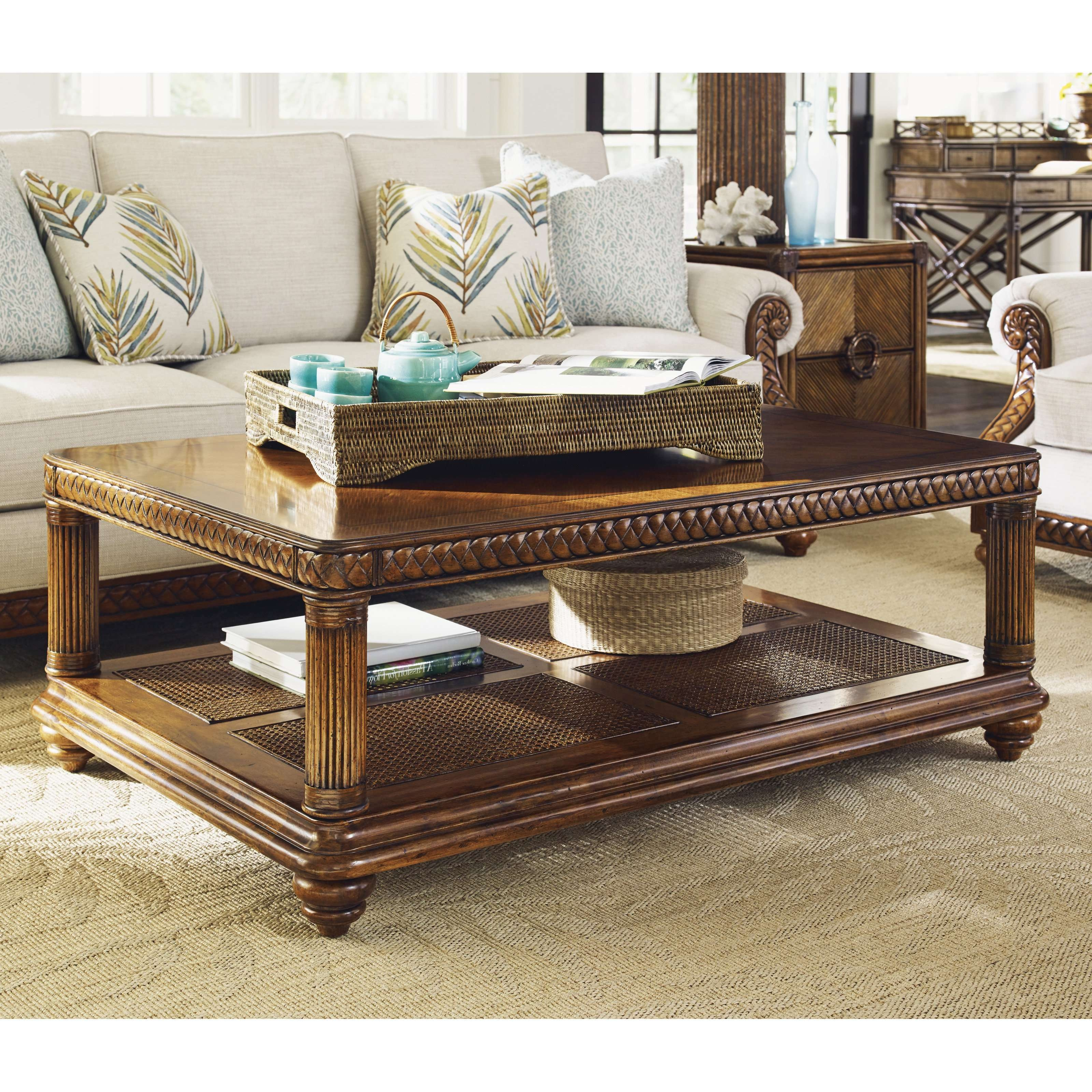 A.r.t. Furniture Old World Rectangular Coffee Table – Pomegranate Throughout Well Liked Large Rectangular Coffee Tables (Gallery 11 of 20)