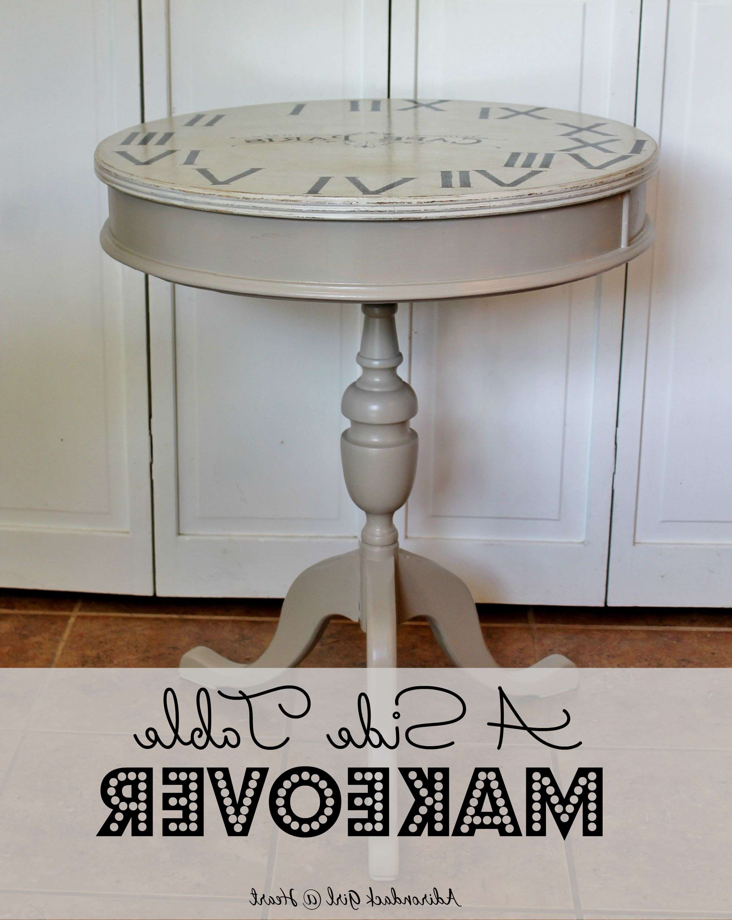 A Side Table Makeover & Wax Recipe – Adirondack Girl @ Heart Pertaining To Famous Coffee Tables With Clock Top (View 6 of 20)